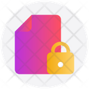 Lock File Document File Icon