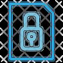 Lock File Lock Document Security Icon