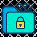Folder Lock Document Icon