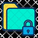 Document Data Lock Folder Icon