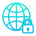 Lock Globe Icon