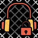 Earphone Music Device Lock Headphone Icon