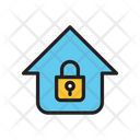 Lock Home Lock House Protected House Icon