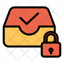 Lock Inbox Icon