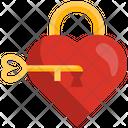 Lock Key Heart Love Icon