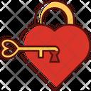 Lock Key Romance Romantic Icon