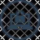 Lock Laptop Encryption Icon