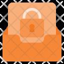Lock Inbox Mail Icon