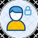 Lock Male Account Icon