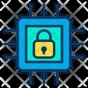 Lock Microchip Processor Icon