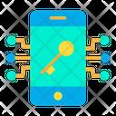 Key Mobile Lock Icon
