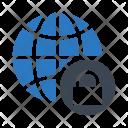 Lock World Secure Icon