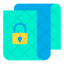 Lock Protected Document Secure File Icon