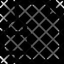 Paper File Lock Icon