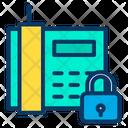 Telephone Communication Lock Phone Icon