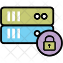 Lock Server Data Storage Online Data Icon