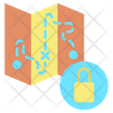 Lock Travel Map Icon