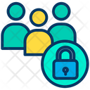 Users Profiles Lock Users Icon
