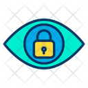Eye Lock Security Icon