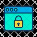 Lock Security Web Icon