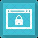 Lock Webpage Internet Icon