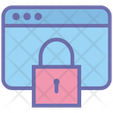 Web Page Lock Security Safety Icon
