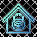 Lock Wifi House Smarthome Technology Icon