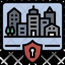 Lockdown Curfew City Icon