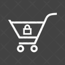 Locked Cart Trolley Icon