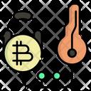 Locked Bitcoin Icon