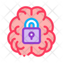 Locked Brain Icon