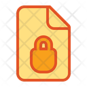Locked Lock Document Icon