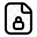 Lock Privacy Document Icon