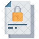 Locked Document Secure Note Icon