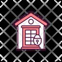 Locked Home Door Icon