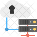 Secured Cloud Data Icon