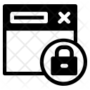 Locked Webpage Icon