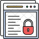 Locked Website Protected Content Ssl Security Icon