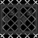 Locker Wardrobe Storage Icon