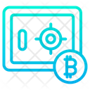 Lock Safe Bitcoin Locker Icon