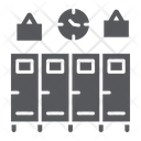 School Lockers Gym Icon
