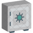 Safe Box Locker Bank Vault Icon