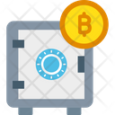Locker Bitcoin Locker Bitcoin Storage Icon