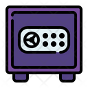 Safe Box Bank Coin Icon