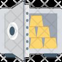 Locker Gold Ingots Gold Security Icon