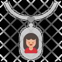 Locket Necklace Woman Icon