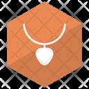 Locket Chain Gold Icon