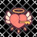 Valentine Lock Heart Icon