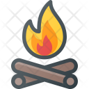 Log Fire Camp Icon