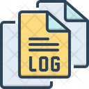 Logfile File Document Icon